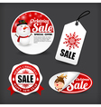 015 Collection of merry christmas banner promotion vector image vector image