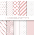 10 seamless geometric patterns vector image vector image