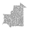 abstract schematic map of mauritania from vector image vector image