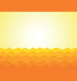 abstract yellow waves background vector image vector image