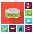 an animal cat flat icons in set collection for vector image vector image