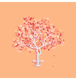 Autumn landscape with abstract tree vector image