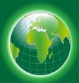 Background with Green Globe Icon vector image