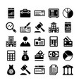 banking and finance line icons 11 vector image vector image