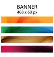 Banner modern wave vector image vector image