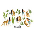 be wild woman vector image