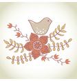 bird in flowers vector image vector image