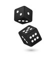 black realistic game dice vector image vector image