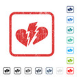 broken heart icon rubber watermark vector image vector image