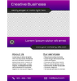 Business multipurpose flyer template - purple vector image vector image