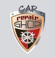 car repare shop badge vector image
