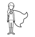 caricature thick contour faceless full body super vector image vector image