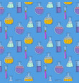 chemistry pot seamless pattern hand drawn style vector image