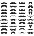 collection different mustache and beard men vector image