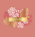 coral color invitation template vector image vector image