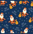 coronavirus christmas seamless pattern vector image vector image