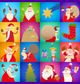 decorative christmas pattern cartoon design vector image vector image