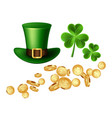 decorative elements for saint patricks day vector image