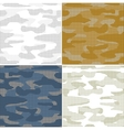 Digital camouflage seamless patterns - set vector image