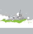 drawing sketch topkapi palace istanbul vector image vector image