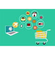 E-commerce Set icons online shopping vector image