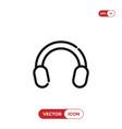 earmuffs icon vector image vector image