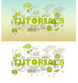 education web page banner design concept vector image