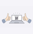 electronic payment with qr code concept vector image