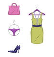 elegant set of female clothes and accessories i vector image vector image