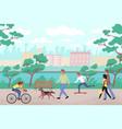 embankment city park flat background vector image