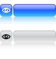 Eye square button vector image vector image