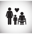 family with disabled member on white background vector image