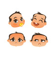 flat baby face expression emotion set vector image vector image