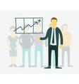 flat businessman presentation of vector image vector image