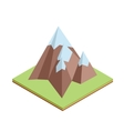 Flat isometric mountain climb vector image