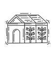 gardening greenhouse icon hand drawn icon set vector image vector image
