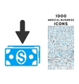 Get Dollar Banknotes Icon with 1000 Medical vector image