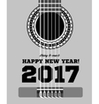 Happy New Year on the background of guitars and vector image vector image