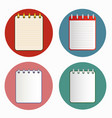 icon of notebook in four variations vector image vector image