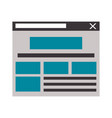 internet website tab isolated vector image vector image
