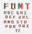 isometric cubical alphabet vector image vector image