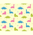 kids babackground with cute dinosaurs seamless vector image