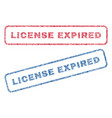 License expired textile stamps