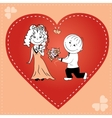 loving couple in heart vector image vector image