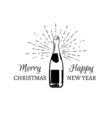 merry christmas and happy new year explosion vector image vector image