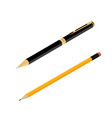office stationery ballpoint pen and pencil vector image