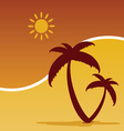 palm with summer icom color vector image vector image