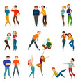 people and emotions icons set vector image vector image