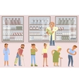 Pharmacy infographic elements vector image