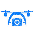 photo drone grunge icon vector image vector image